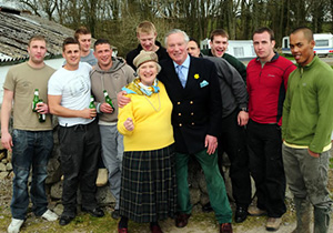 Jennefer, the Lord Lieutenant of the Stewartry and shootoff participants